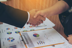 Shake hands to success Stock Image