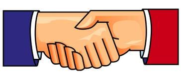 shake ręce Ilustracji