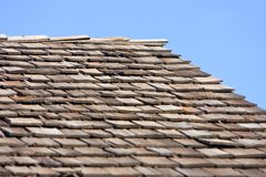 Shake Roofing Stock Image