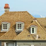 Shake Roofing New Home House Royalty Free Stock Image
