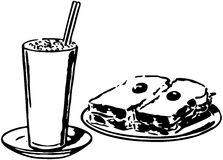 Shake And Sandwich Royalty Free Stock Photography