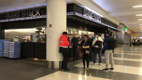 Shake Shack at JFK stock video