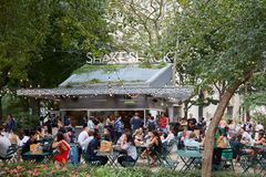 Shake Shack restaurant in Madison Square Park in New York Royalty Free Stock Photos