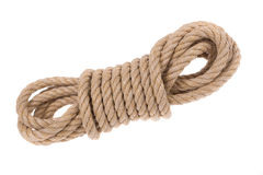 Shake twisted ropes for different jobs. Stock Photo