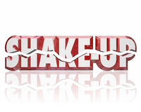 Shake-Up 3d Words Disrupt Change Innovate Improve Stock Image