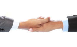 Shakehand. Close up of businessman's hand making a deal Royalty Free Stock Images