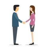 Shakehand de femme d'affaires illustration libre de droits