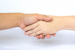 Shakehand. Man hand shake woman hand Royalty Free Stock Photos