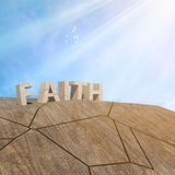 Shaken Faith Illustration. How strong is your faith in God Royalty Free Stock Images