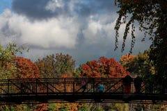 Shaker湖,克利夫兰,俄亥俄,在秋天 免版税图库摄影
