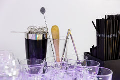 Shaker and bar inventory Royalty Free Stock Image