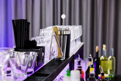 Shaker and bar inventory Royalty Free Stock Photography