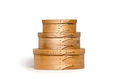 Shaker Boxes hecho a mano aislado Imagen de archivo