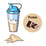 Shaker Chocolate Protein Powder Stock Images