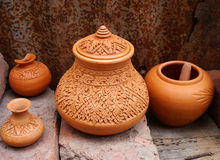 Shaker crafts, pottery of the Thai people Stock Images
