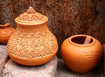 Shaker crafts, pottery of the Thai people Stock Photos