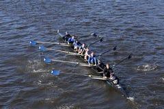 Shaker Crew läuft im Kopf von Charles Regatta Men-` s Jugend Eights Stockfoto