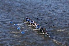 Shaker Crew läuft im Kopf von Charles Regatta Men-` s Jugend Eights Lizenzfreies Stockbild