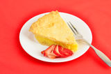 Shaker Lemon Pie on Red Royalty Free Stock Images