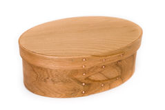 Shaker oval box, closed Stock Photo