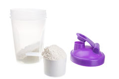 Shaker for protein. For bodybuilders. Royalty Free Stock Photography