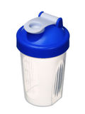 Shaker for protein powder isolated on white Royalty Free Stock Images