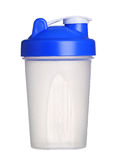 Shaker for protein powder isolated on white Stock Image