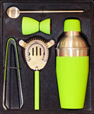 Shaker set green Stock Images