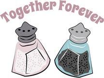 Shaker Together Forever Royaltyfria Bilder