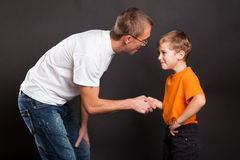 Shakes hands Royalty Free Stock Photography