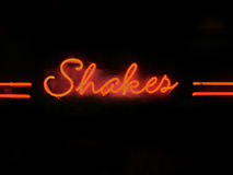 Shakes neon sign Royalty Free Stock Images