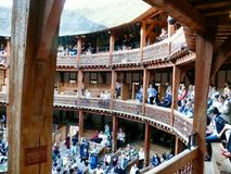 Shakespeare's Globe, Southbank. Reconstructed theatre of Shakespeare's Old Globe, Southbank Stock Photo