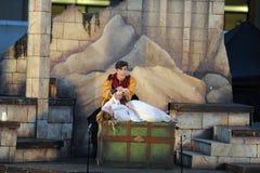 Shakespeare θαλασσίως σε Soka πανεπιστημιακές ΗΠΑ στις 10 Αυγούστου 2016 στοκ εικόνα