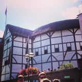 Shakespeare& x27; театр глобуса s в Лондоне стоковое фото