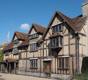 Shakespeare birthplace in Stratford upon Avon Stock Photos