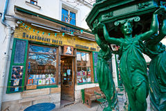 The Shakespeare and Co. bookstore, Paris. Stock Photos