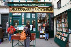 Bookstore of Shakespeare and Company in Paris. Shakespeare and Company is a independent English-language bookstore to serve as a purveyor of new and second-hand Royalty Free Stock Photos