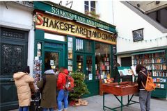 Bookstore of Shakespeare and Company in Paris. Royalty Free Stock Image