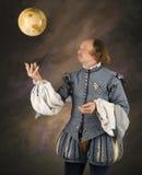 Shakespeare, der Kugel wirft. Stockfotografie
