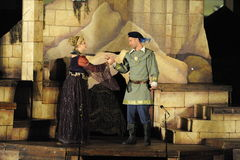 Shakespeare door het Overzees in Soka de Universitaire V.S. 10 Augustus 2016 Royalty-vrije Stock Afbeelding