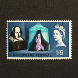 Shakespeare Festival Stamp Stock Image