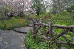 Shakespeare gardens. In Central New York City in the spring Royalty Free Stock Photos