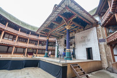 Shakespeare Globe Theater London England Stage Stock Images