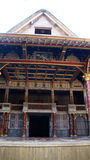 Shakespeare Globe Theatre in London. Shakespeare Globe Theatre stage in London Stock Image