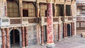 Shakespeare Globe theatre in London UK. Interior of the famous old Shakespeare Globe theatre in London United Kingdom Royalty Free Stock Image