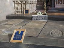 Shakespeare grave in Stratford upon Avon royalty free stock photo