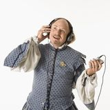 Shakespeare listening to music Royalty Free Stock Photos
