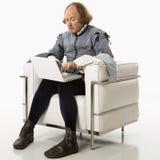 Shakespeare no portátil foto de stock royalty free