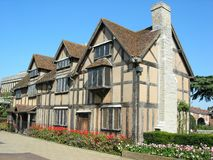 Shakespeare's Birthplace. A half-timbered building in Henley Street, stratford upon avon is where Shakespeare and his brothers and sisters were born and brought Stock Photo