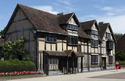 Shakespeare's Birthplace. House where was born and grew up the greatest English writer poet and playwright William Shakespeare Stock Photos